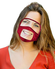 Face Mask With Clear Window Visible Expression For The Deaf And Hard Of Hearing