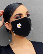 Heart / Daisy / Leaf Print Breathable Mouth Mask Washable And Reusable