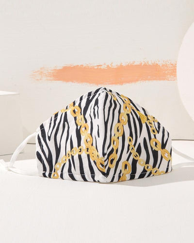Cheetah / Chain / Scarf / Zebra Striped Print PM2.5 Filter Face Mask