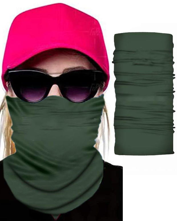 Solid Face Breathable Bandana Magic Scarf Headwrap Balaclava