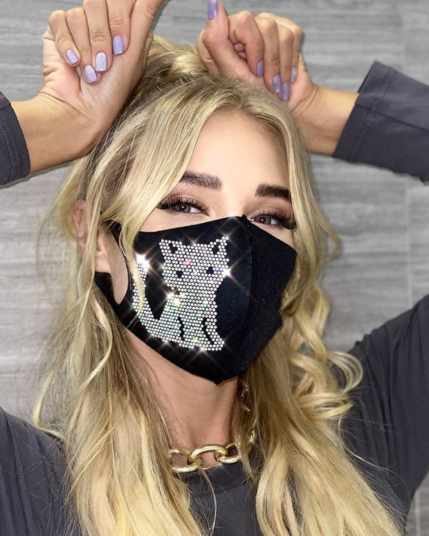 Hot Drilling Cat Outdoors Face Mask