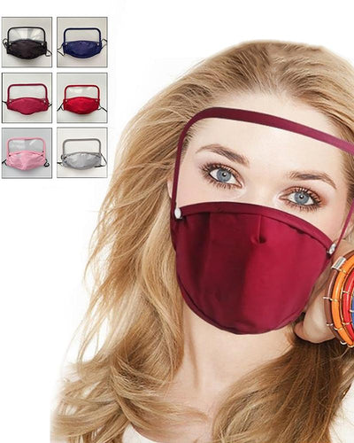 Detachable Face Mask With Eyes Shield