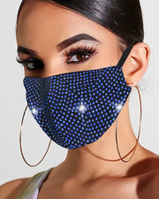 Glitter Studded Breathable Mouth Mask Reusable