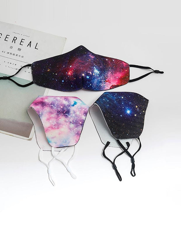 Starry Sky / Tie Dye Print Breathable Face Mask