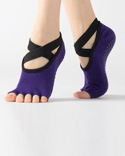 Solid Yoga Grip Socks