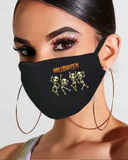 Halloween Skull / Letter / Pumpkin Print Breathable Mouth Mask