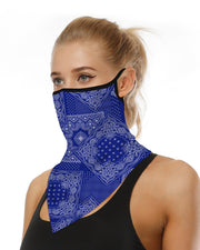 Print Breathable Face Ear Loop Cover Windproof Motorcycling Dust Outdoors Bandana