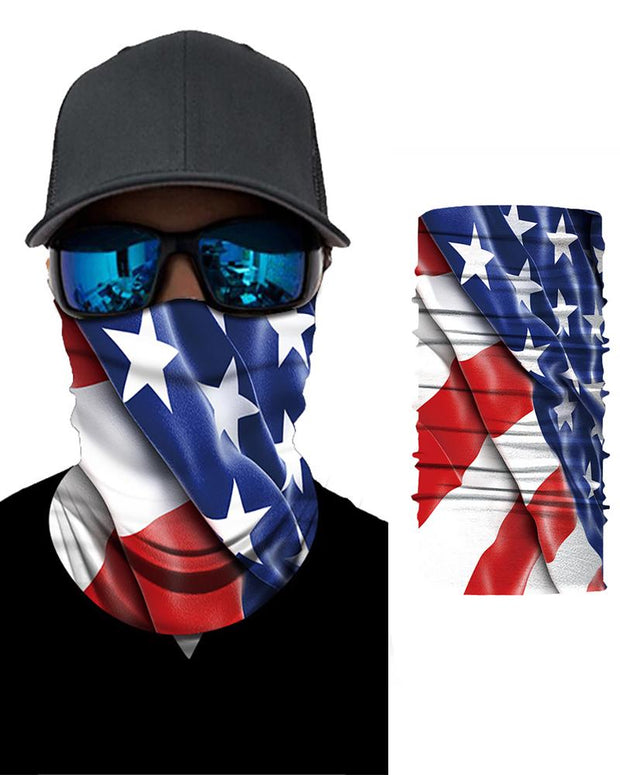 Flag Print Breathable Face Bandana Magic Scarf Headwrap Balaclava