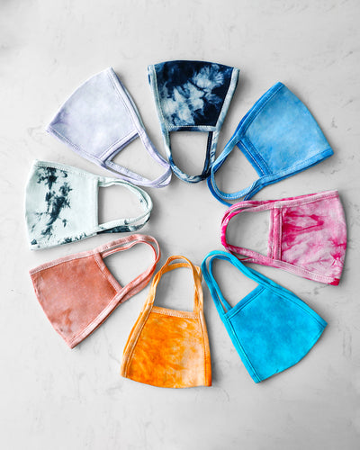 5PCS/Set Randomly Dispatched Tie Dye Print Breathable Face Mask(Colors/Patterns Sent Randomly)