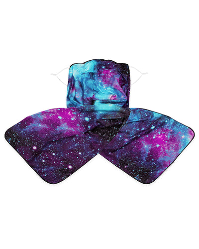 Starry Sky / Somking / Tie Dye Print Breathable Scarf Face Mask