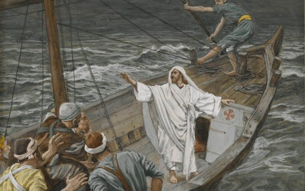 Oil Painting, Jesus Stilling the Tempest