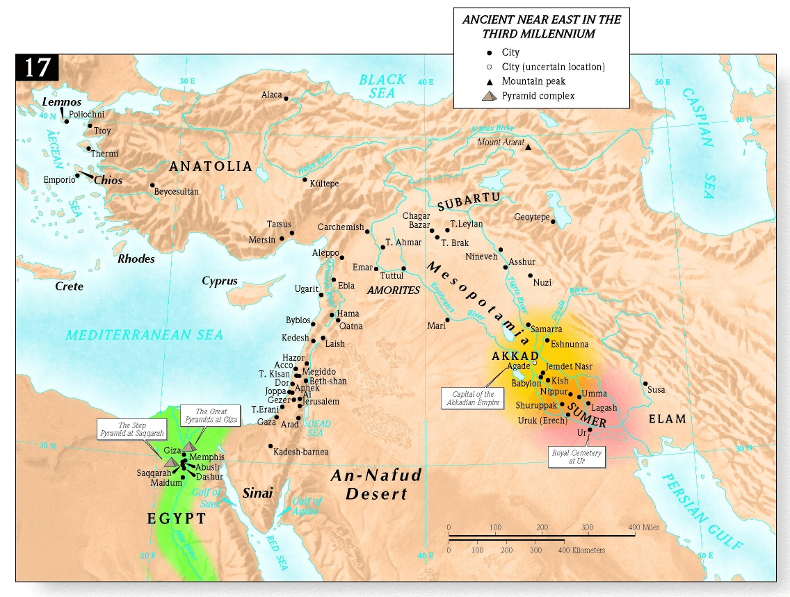 Map Ancient Near East in the third millennium