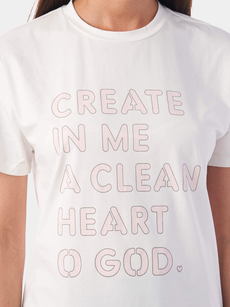 Create In Me A Clean Heart Bling Effect T-Shirt