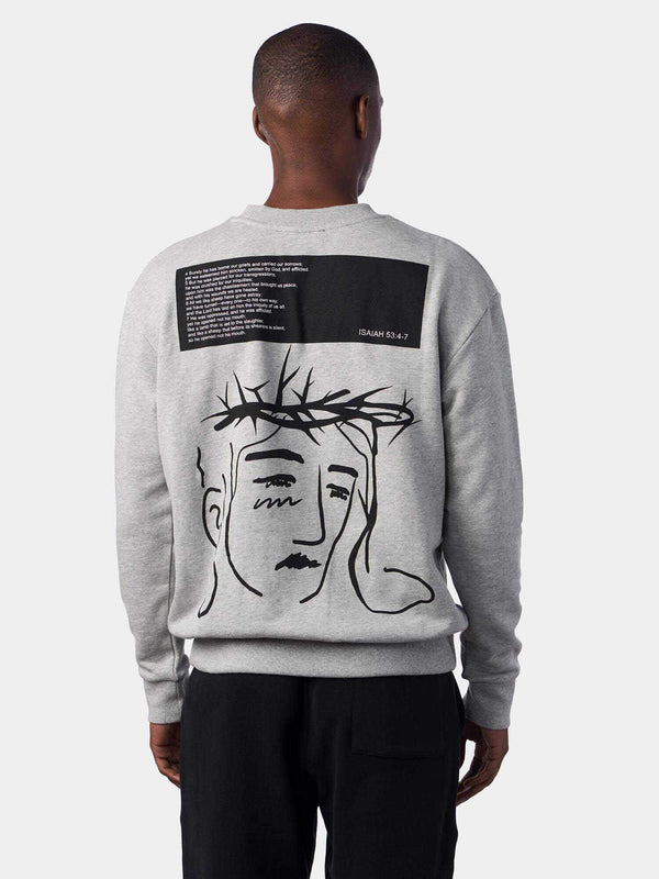 Crown of Thorns Jesus Face Christian Sweatshirt | SACRIZE