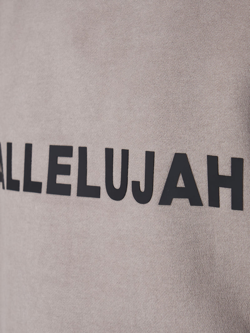 Hallelujah cement crew neck sweatshirt for women