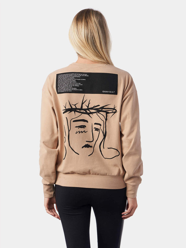 Isaiah 53 Crown of Thorns Jesus Face Christian Sweatshirt | SACRIZE