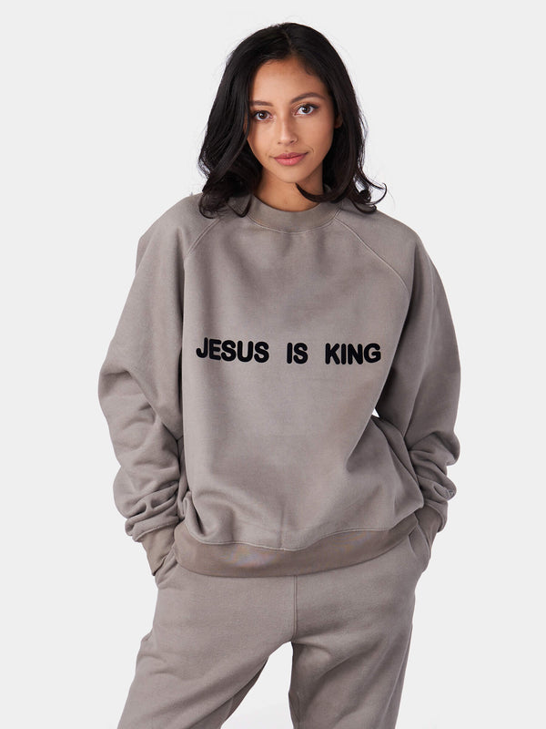 Jesus Is King Crewneck Christian Sweatshirt