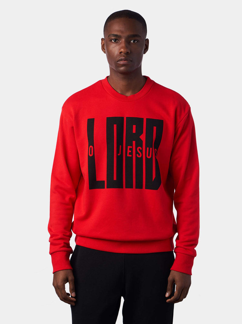 Jesus Lord Red Christian Sweatshirt