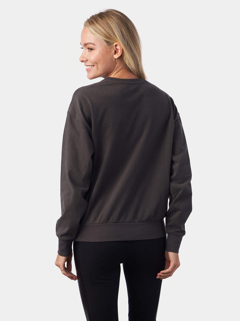 O Lord Metallic Print Charcoal Christian Sweatshirt | SACRIZE