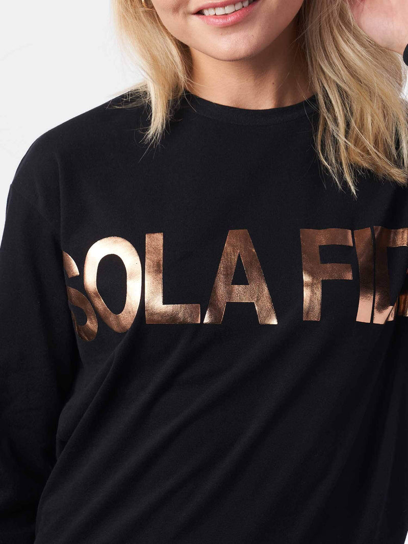 Sola Fide Justification by Faith Alone Black Christian Sweatshirt | SACRIZE