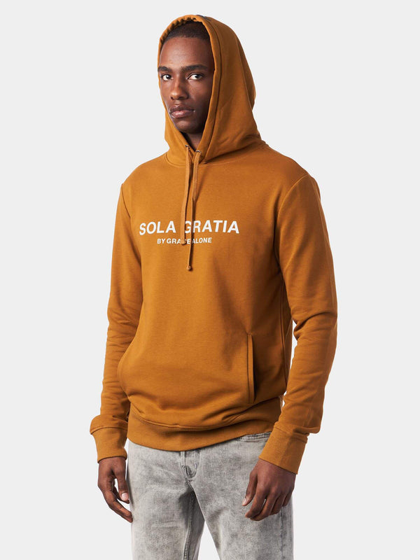 Sola Gratia By Grace Alone Yellow Christian Hoodie | SACRIZE