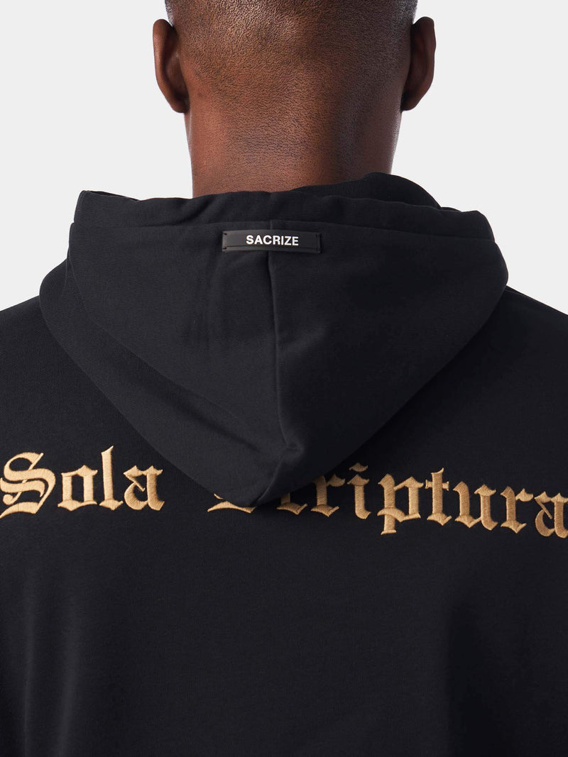 Sola Scriptura By Scripture Alone Black Christian Hoodie | SACRIZE
