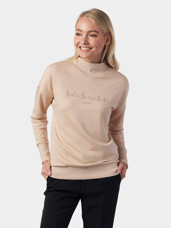 Sola Scriptura By Scripture Alone High Neck Sweatshirt | SACRIZE