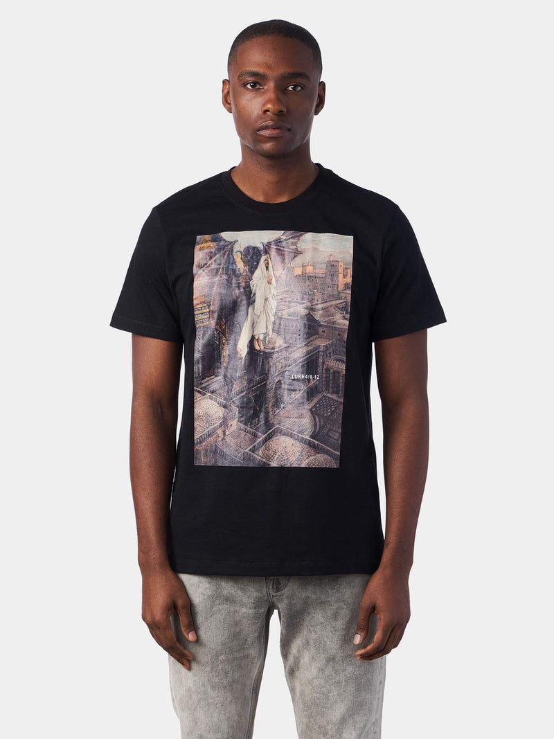 Temptation of Christ Black Jesus T-Shirt | SACRIZE