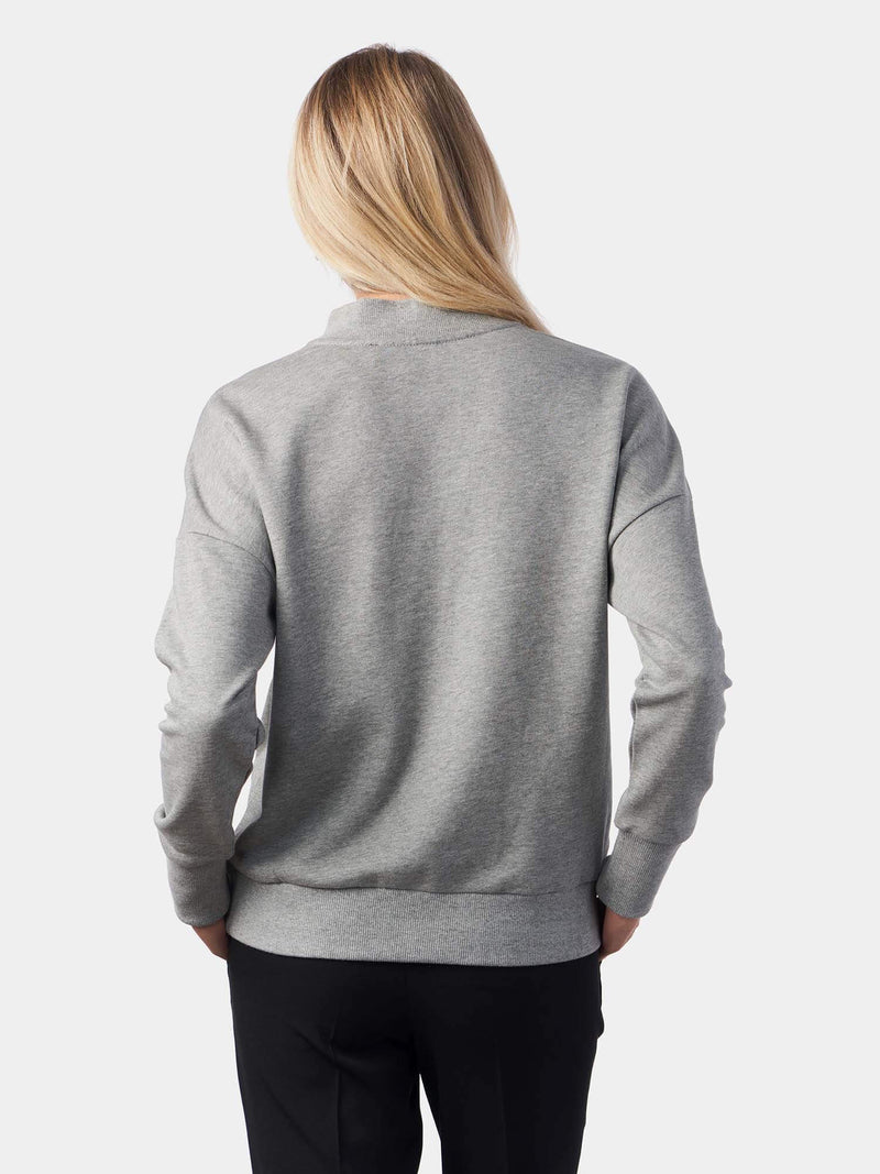The Lamb of God Sequined High Neck Grey Christian Sweatshirt | SACRIZE