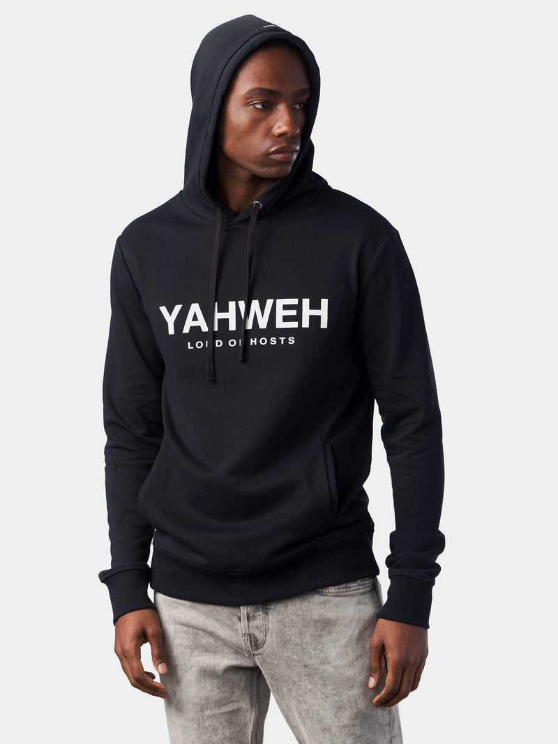 Yahweh Lord of Hosts Black Christian Hoodie | SACRIZE