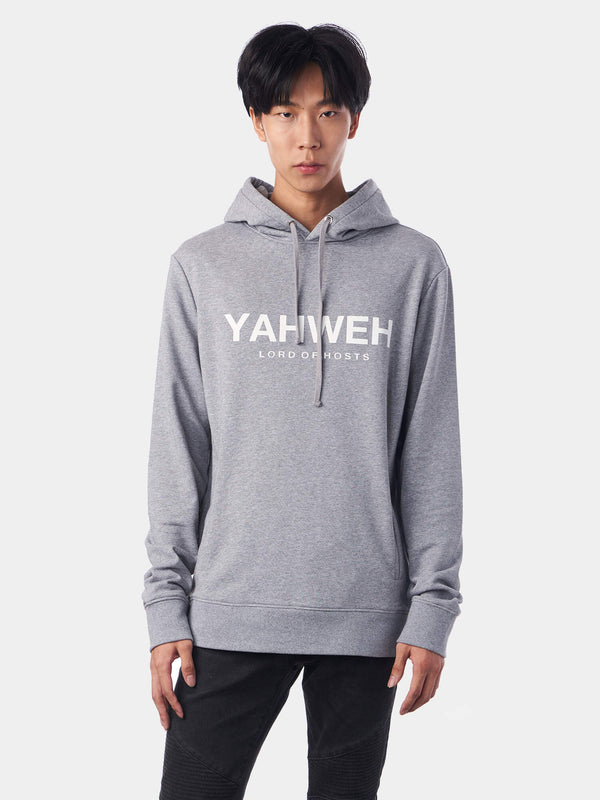 Yahweh Lord of Hosts Grey Christian Hoodie | SACRIZE