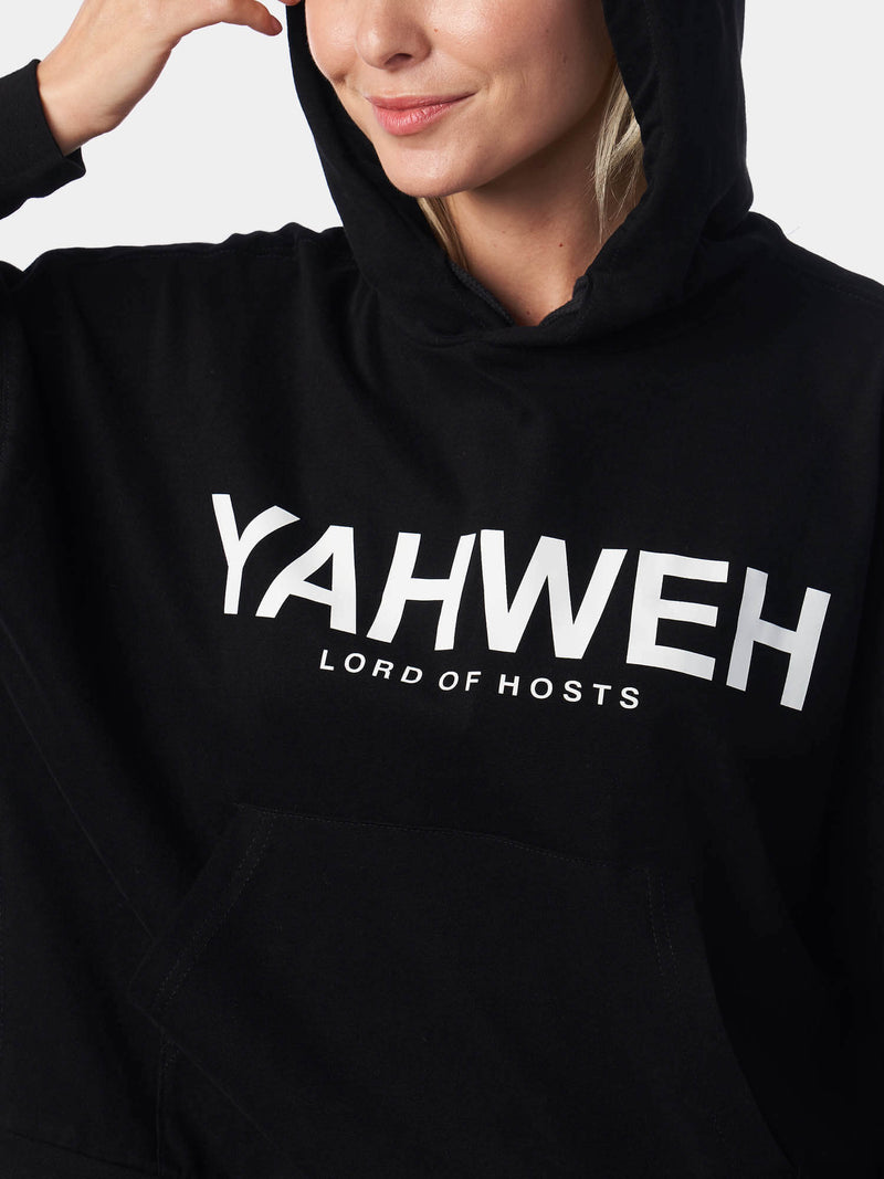 Yahweh Lost of Hosts Black Christian Hoodie | SACRIZE