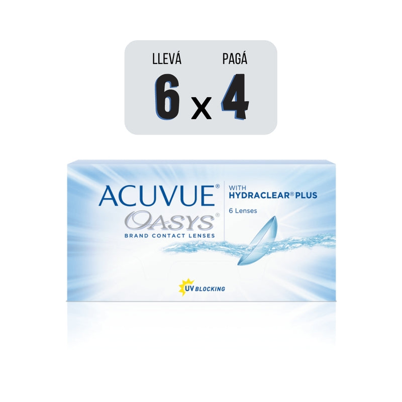 ACUVUE® OASYS® CON HYDRACLEAR® PLUS - PACK AHORRO