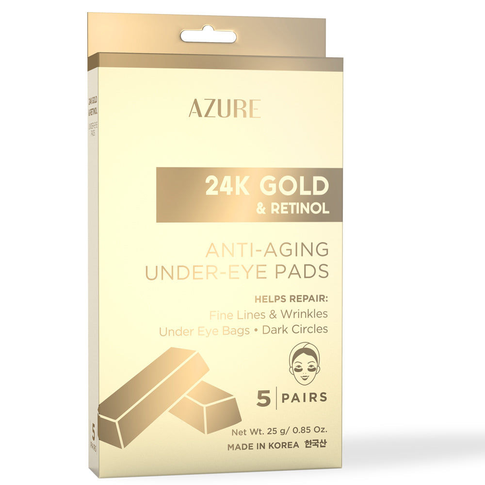 24K Gold & Retinol Anti-Aging Under Eye Pads: 5 Pairs