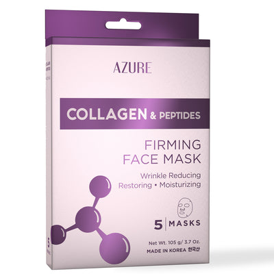 Collagen & Peptides Firming Sheet Face Mask: 5 Pack