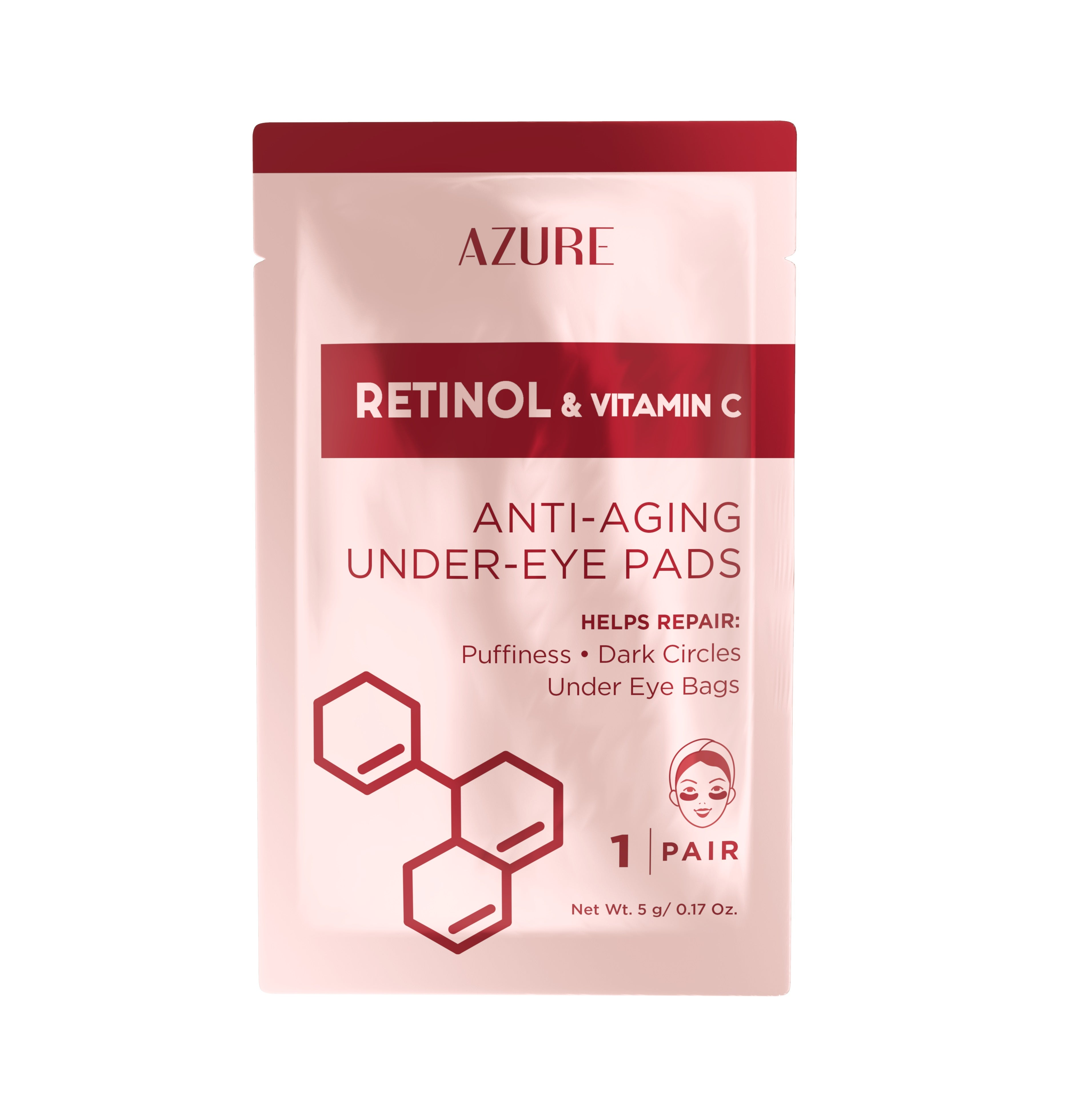 Retinol & Vitamin C Anti-Aging Under Eye Pads: 5 Pairs