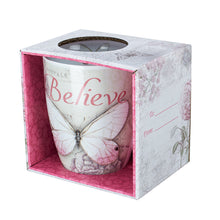 "Load image into Gallery viewer, ""Believe"" Butterfly Tea Mug-Coming Soon"