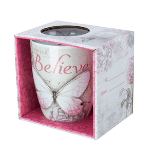 """Believe"" Butterfly Tea Mug-Coming Soon"