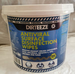 Dirteeze Anti-Viral Surface Disinfectant Wipes (Tub 225)