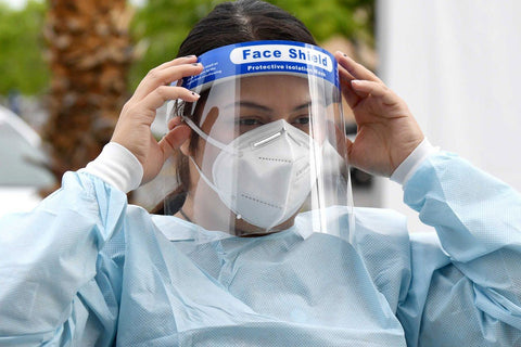 Face Shield with Soft Headband