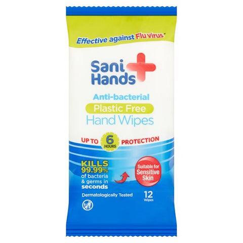 Sani Hands Antibacterial Hand Wipe Pack 12