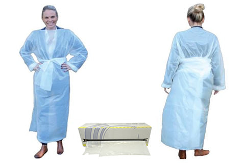 Full Disposable Thumb Loop Gown - Roll 50