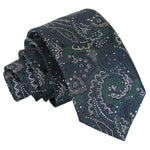 Royal Paisley Slim Tie - Green & Navy