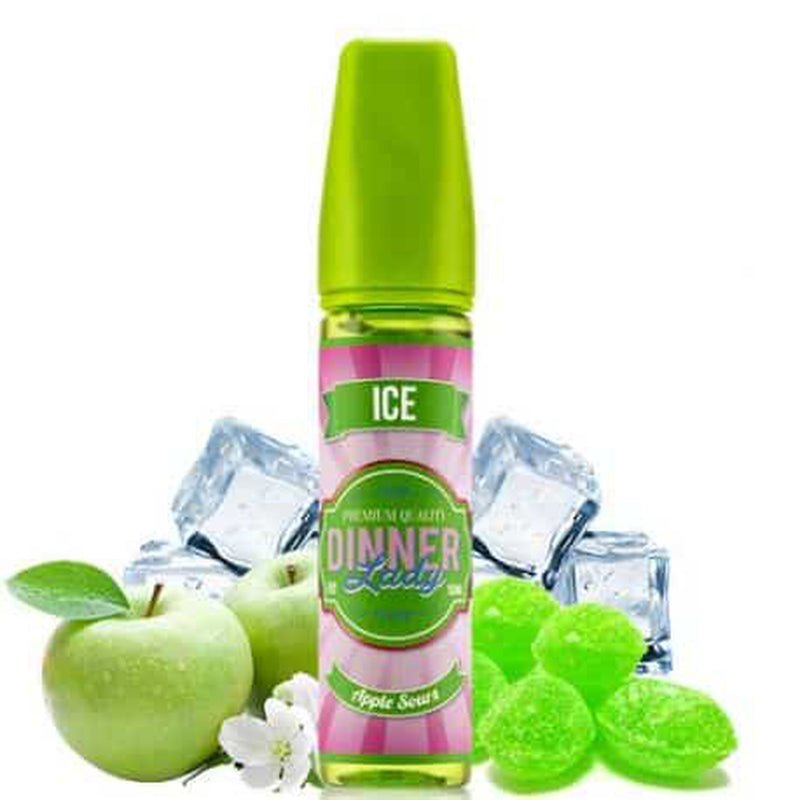 Vape4change 3 MG Apple Ice - Dinner Lady - 60 ML