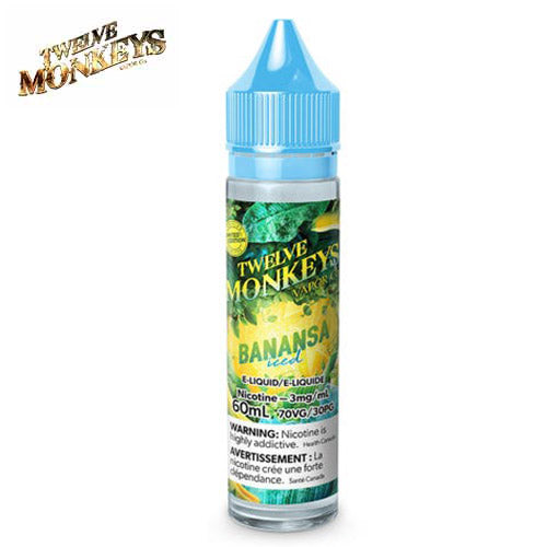 Ice Age Banansa Iced By Twelve Monkeys - 60 ML