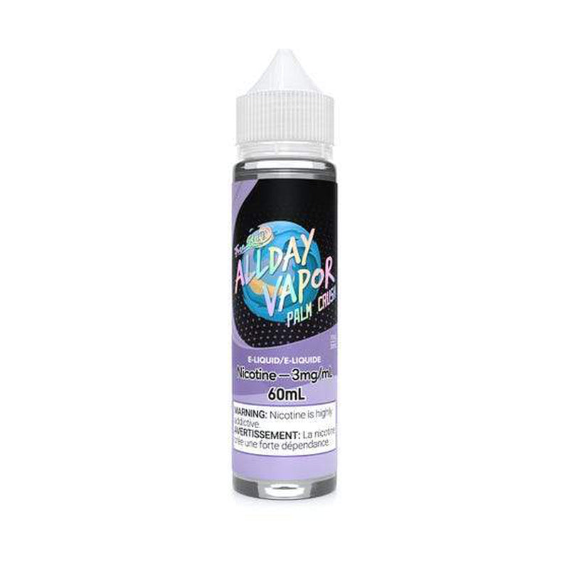 3 MG Palm Crush By All Day Vapour - New Bay Series - 60 ML