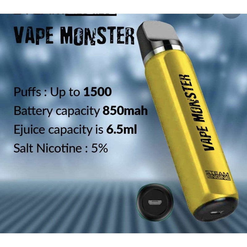 StrawberrVape Monster Disposable By Steam Engine - 50 MG Online Vape Shop