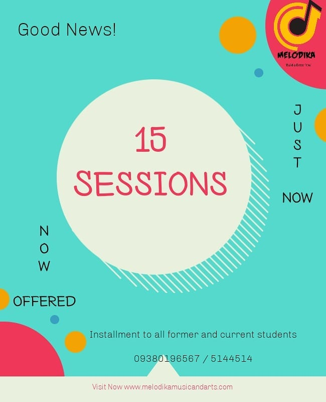 15 Sessions NOW OFFERED