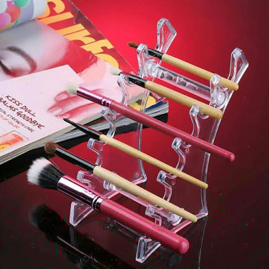 Watercolor Brush Acrylic Pen Holder, Clear Makeup Display, Thick and Sturdy, Organizer Holder