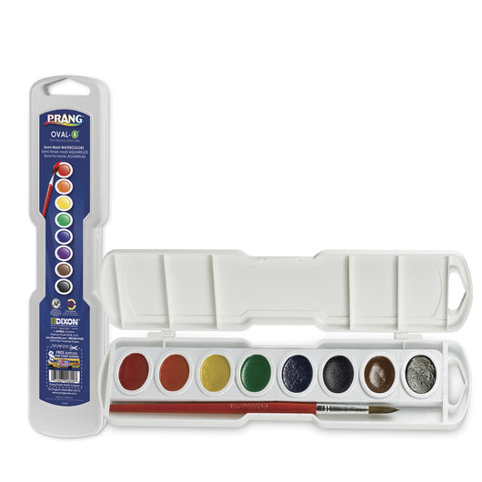 8 Color Prang Watercolor with free brush - art supplies